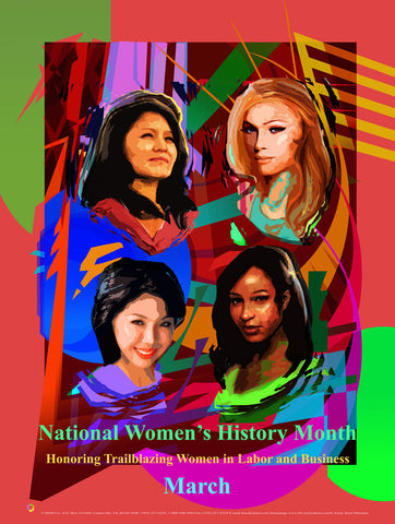 Item# WH1724x36 (Custom Made 24x36 inches) National Women's History Month Trailblazing Women 2017 ..OM