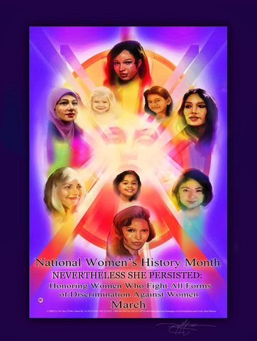 Item# WH1824x36 (Custom Made 24x36 inches) National Women's History Month 2018 ..OM -  DiversityStore.Com®