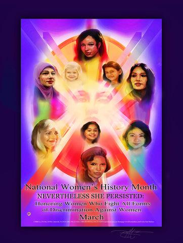 "2018 Item# WH18 - (18x24"") National Women's History Month Honoring NEVERTHELESS :. (GSA) -  DiversityStore.Com®"