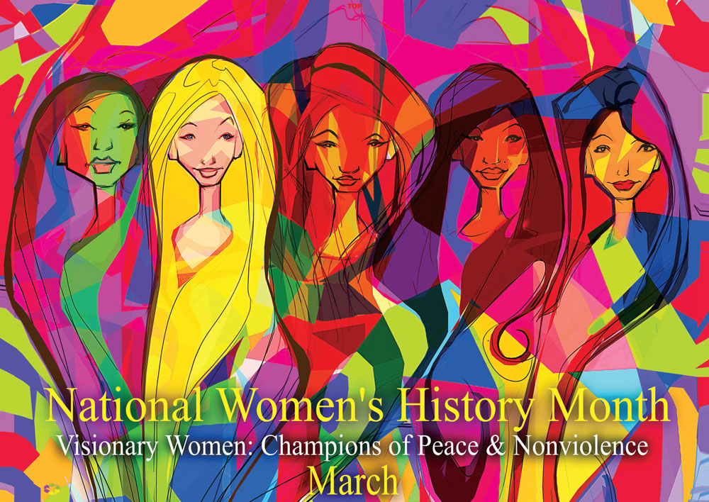 "NEW 2019 Item# WH19 - (24x17"") National Women's History Month Visionary Women: (OM)"