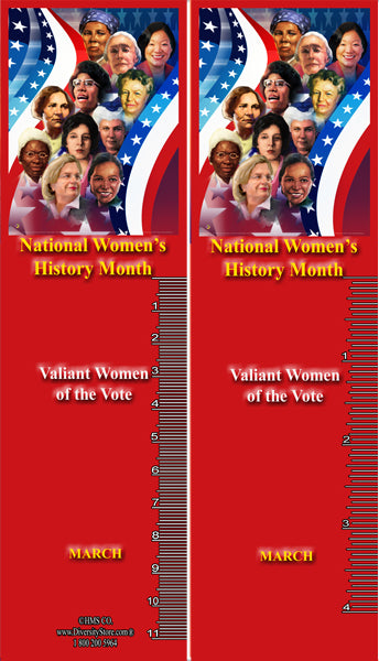 Item# WH20K36 Bookmarks Set of 36  National Women's History Month 2020 ..OM -  DiversityStore.Com®