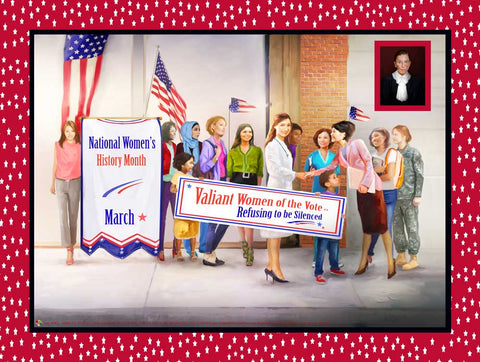 "2021 National Women's History Month Theme: Refusing to be Silenced Item# WH21 - (24x18"") (GSA)"