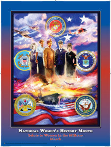 National Women's History Month  Salute to Women in the Military Poster