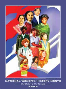 Item# WH11 National Women's History Month  Our History is Our Strength Poster.(GSA) -  DiversityStore.Com®