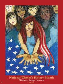 Item# WH5 National Women's History Month Women Change America Poster.(GSA) -  DiversityStore.Com®