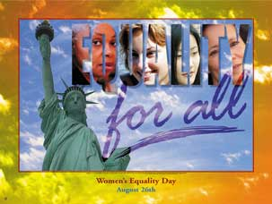 Item# WED3 Women's Equality Day Equality for All Poster.(GSA) -  DiversityStore.Com®