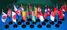 Item# APF3 Asian/Pacific 21 Country Flag Set (21 stds) .. OM -  DiversityStore.Com®