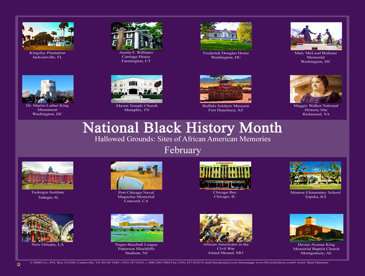 Item#B16  Black History Month - Hallowed Grounds: (GSA)