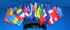 Caribbean 17 Flag Set