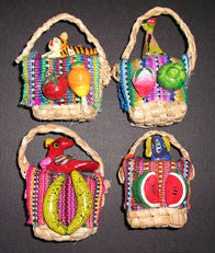 Straw Bag Ornament Magnet