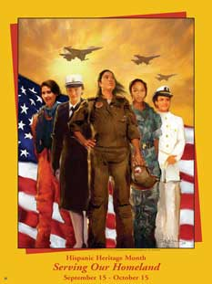 Item# HS1 Hispanic Heritage Month Serving Our Homeland (GSA)