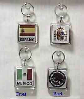 Hispanic Flags - Key Chains