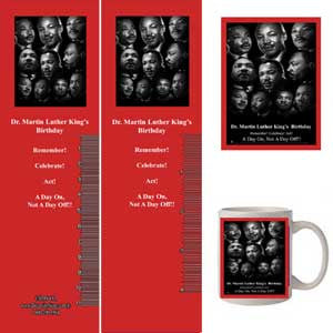 MLK16v2 Bookmarks, Buttons and Magnets ..OM -  DiversityStore.Com®