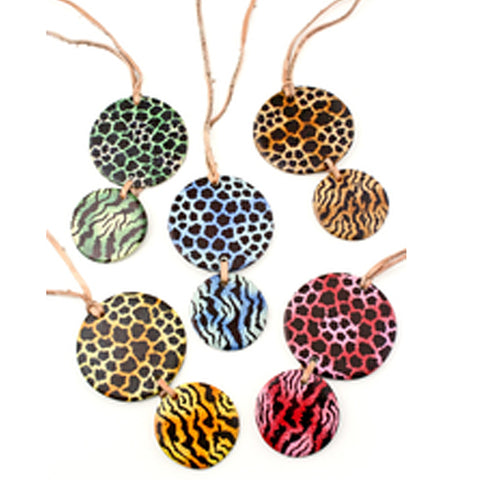 Item# SWNDN African Safari Necklace Ornament  Assorted Colors $7.95 each (one necklace) ... OM