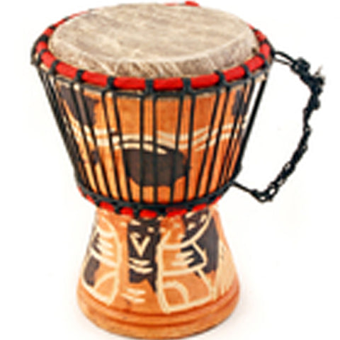 Item# SW5A  African Small Drum Ghanaian Djembe Assorted Colors Price $29.95