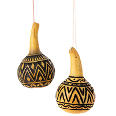 Item# SW6 African Hanging Gourd - Hand Etched Price $9.95 each (one Hanging Gourd)- OM