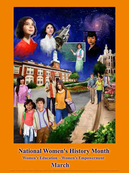Item# WH12 National Women's History Month  Women's Education - Women's Empowerment.(GSA)