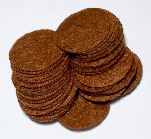 "1"" brown felt circles - MAE Inspirations"