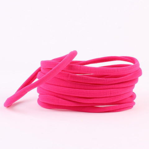 Hot pink spandex nylon skinny headband - MAE Inspirations