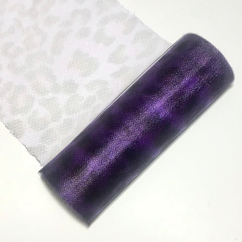"Purple leopard 6"" print tulle fabric / 1-10 yards - MAE Inspirations"