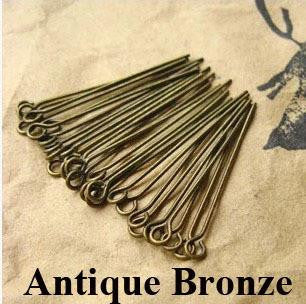18mm bronze eye pins / 5-25 pieces - MAE Inspirations