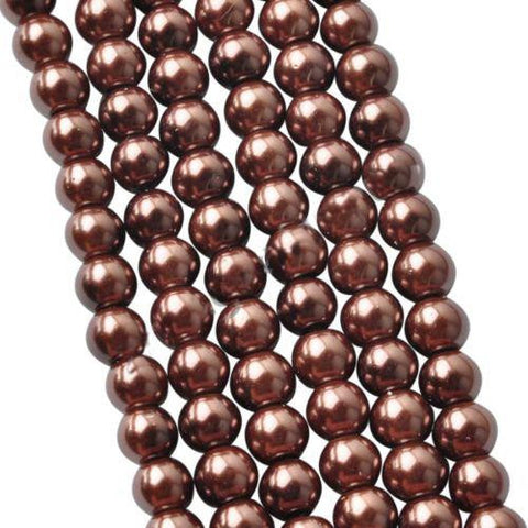 4mm brown glass pearl beads / 5-50 pieces - MAE Inspirations