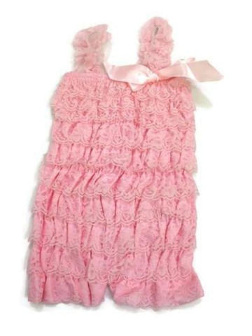 Light pink lace baby romper - MAE Inspirations