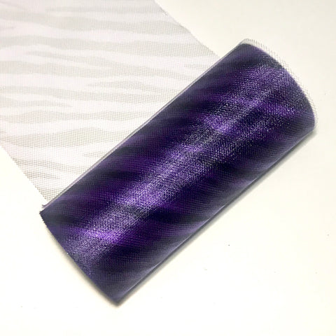 "Purple zebra 6"" print tulle fabric / 1-10 yards - MAE Inspirations"