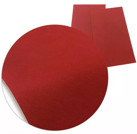 Red solid faux leather fabric sheet - MAE Inspirations
