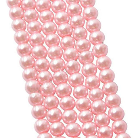 4mm light pink glass pearl beads / 5-50 pieces - MAE Inspirations