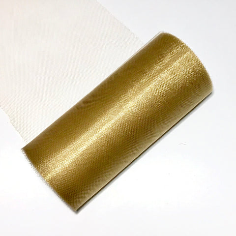 "Tan gold 6"" SHIMMER tulle fabric / 1-10 yards - MAE Inspirations"