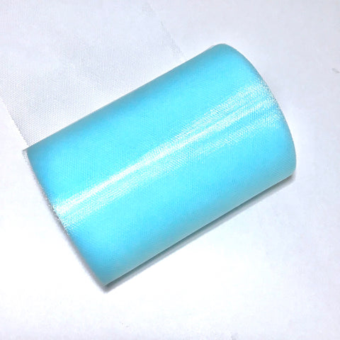 "Aqua blue 6"" tulle fabric / 1-10 yards - MAE Inspirations"