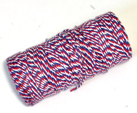 Red, white & blue 4th of July 12 ply bakers twine - MAE Inspirations