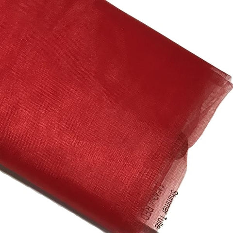 "Red 54"" SHIMMER tulle fabric / 1-5 yards - MAE Inspirations"