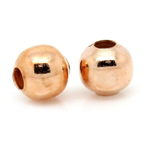 4mm rose gold plated spacer beads / 10-25 pieces - MAE Inspirations