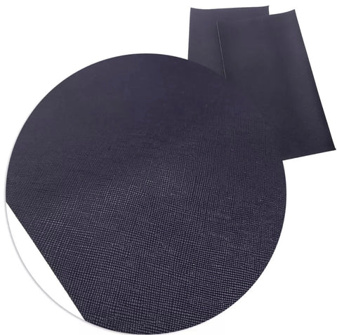 Navy blue solid faux leather fabric sheet - MAE Inspirations