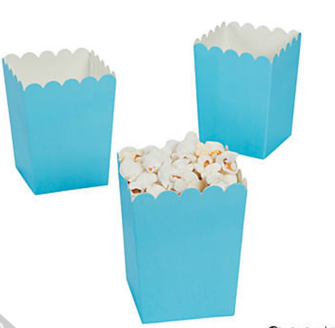 Light blue popcorn boxes - MAE Inspirations