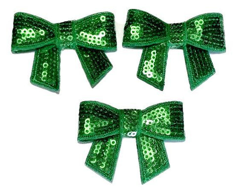 "Emerald green 2"" sequin bow / 1-5 pieces - MAE Inspirations"