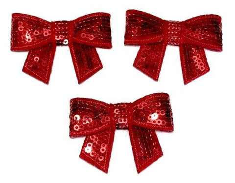 "Red 2"" sequin bow / 1-5 pieces - MAE Inspirations"