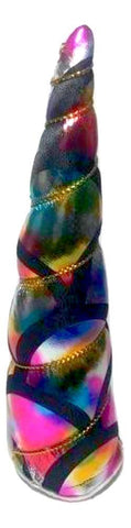 "JUMBO 5.5"" rainbow mermaid scale unicorn horn"