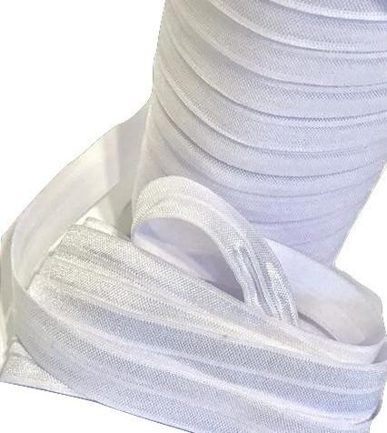 "White 5/8"" fold over elastic FOE - MAE Inspirations"