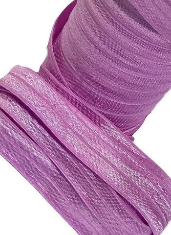 "Dark lavender 5/8"" fold over elastic FOE"