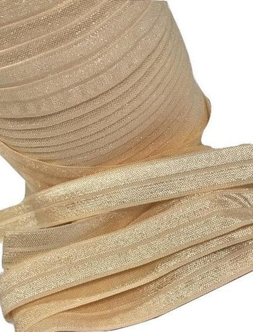 "Cream 5/8"" fold over elastic FOE"
