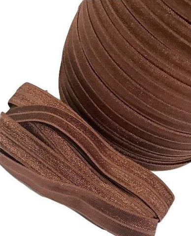 "Brown 5/8"" fold over elastic FOE"