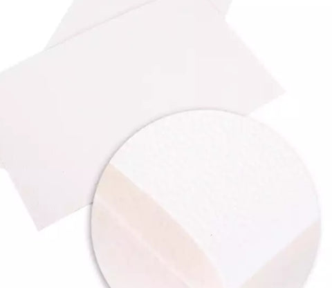 White textured solid faux leather fabric sheet - MAE Inspirations