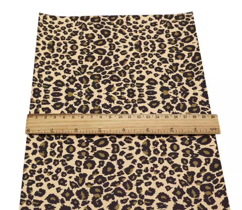 Cheetah print faux leather fabric sheet - MAE Inspirations
