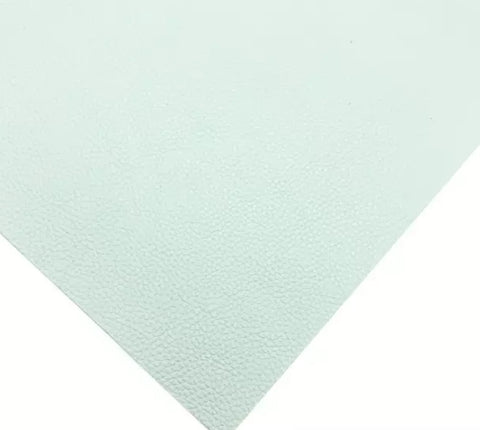 Pale mint green textured solid faux leather fabric sheet - MAE Inspirations