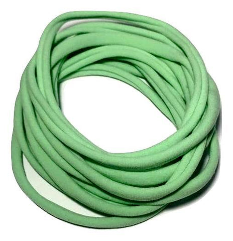 Mint green spandex nylon skinny headband - MAE Inspirations