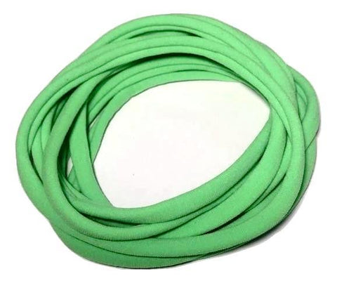 Lime green spandex nylon skinny headband - MAE Inspirations