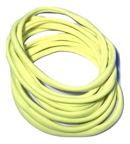 Neon yellow spandex nylon skinny headband - MAE Inspirations